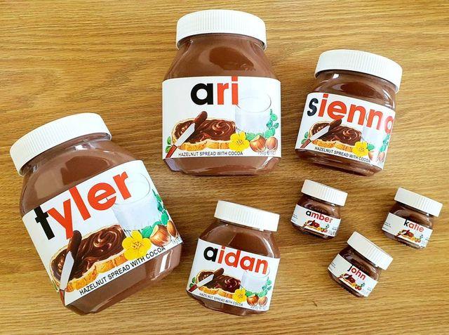 personalized nutella jars