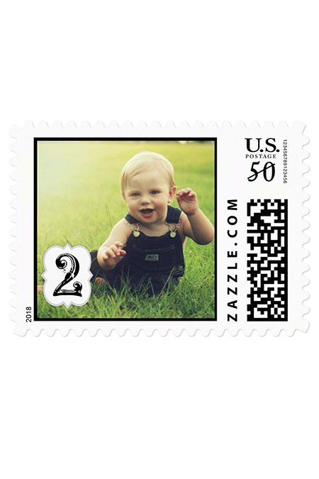 Mother's Day Gift From Toddler - Personalized Postage Stamp