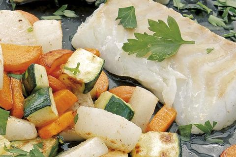pescado al horno con mantequilla y jerez seco