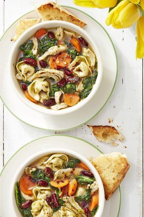 healthy soups pesto chicken