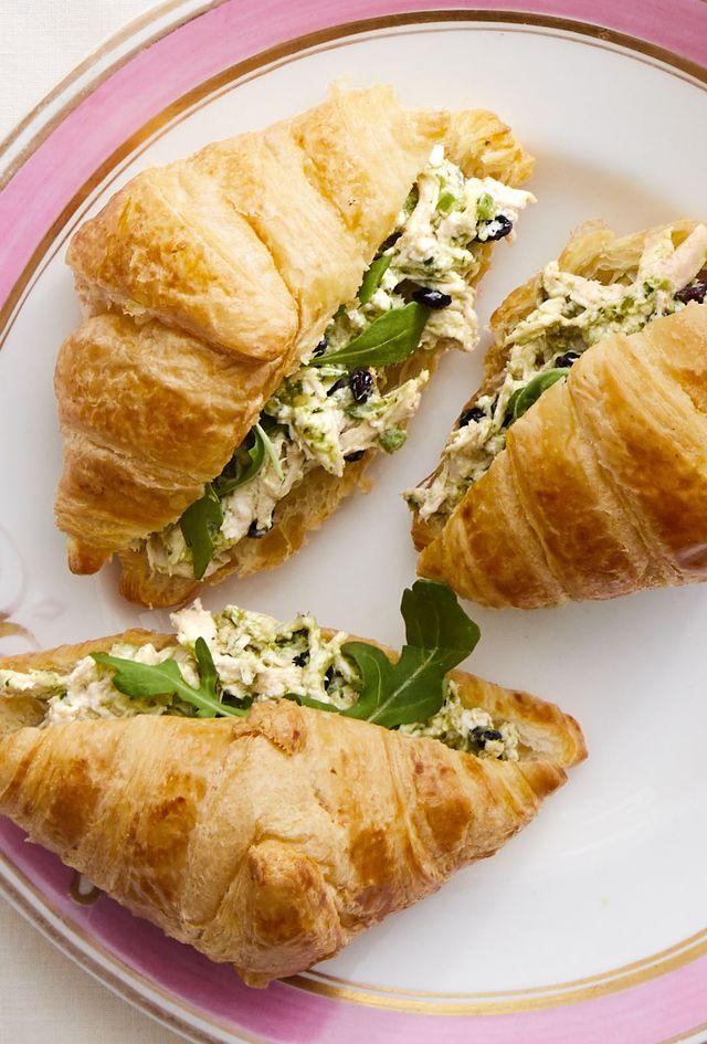 pesto chicken salad croissants