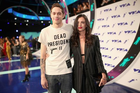 pete davidson and cazzie david in 2017