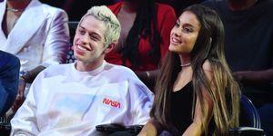 Pete Davidson en Ariana Grande bij de MTV VMA's 2018