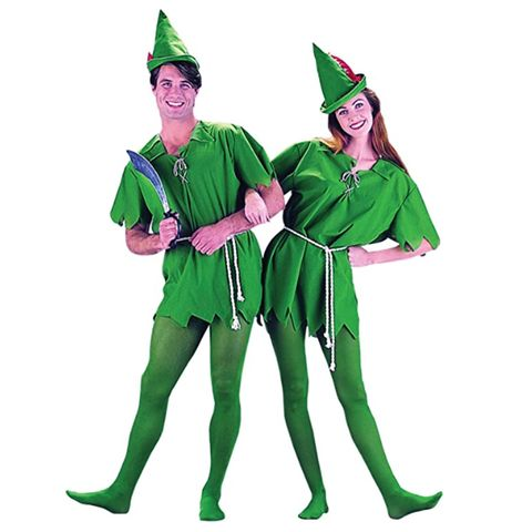 unisex adult peter pan sized costumes