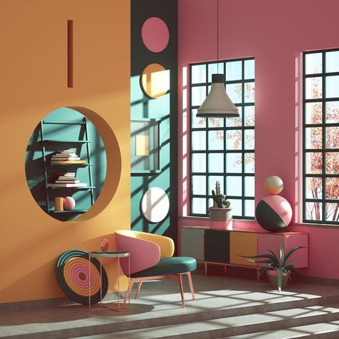 Composiciones de Peter Tarka donde el color y el diseño 3D lo son todo