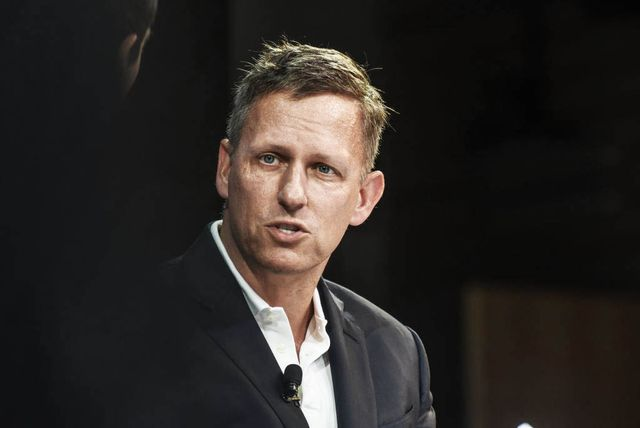 new york, ny   november 01 peter thiel, partner, founders fund, speaks at the new york times dealbook conference on november 1, 2018 in new york city photo by stephanie keithgetty images