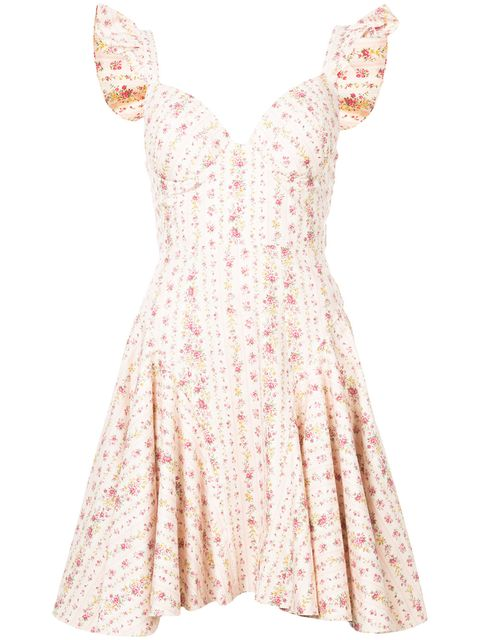 Clothing, Dress, Day dress, White, Pink, Cocktail dress, Lace, Sleeve, Peach, Gown,
