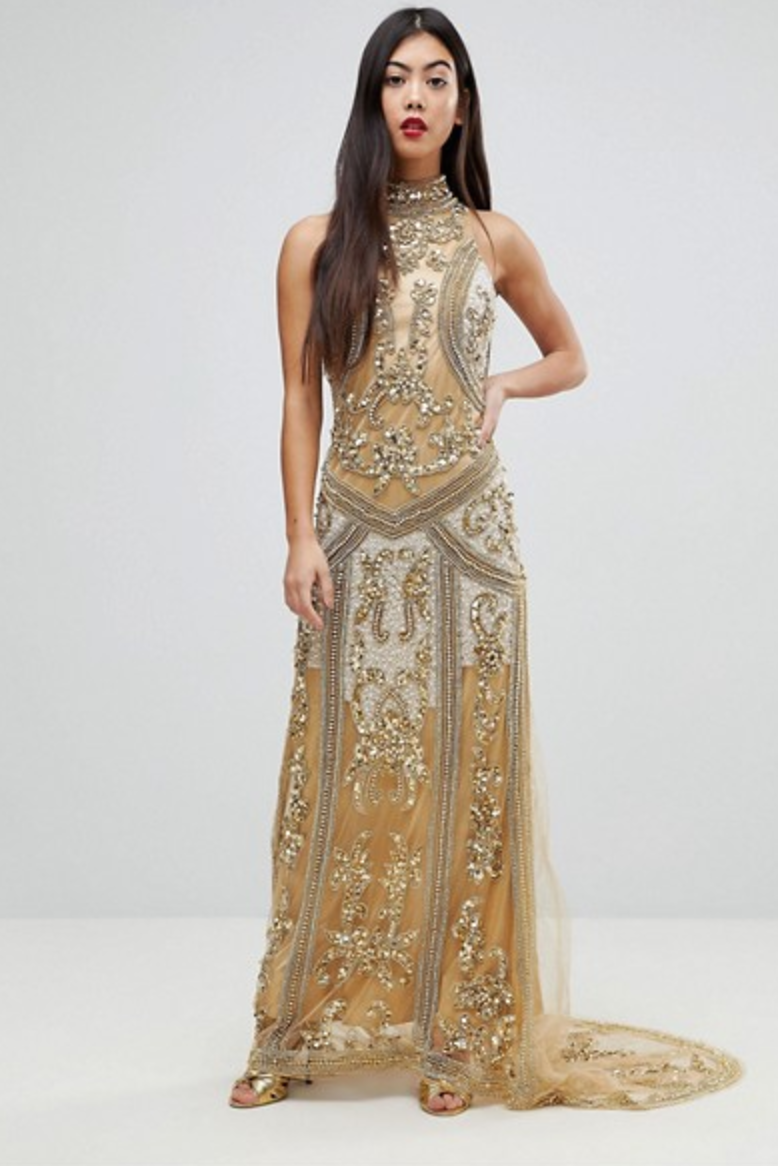 17 Best Gold Silver And Metallic Prom Dresses 2018 Cute Gold Gowns