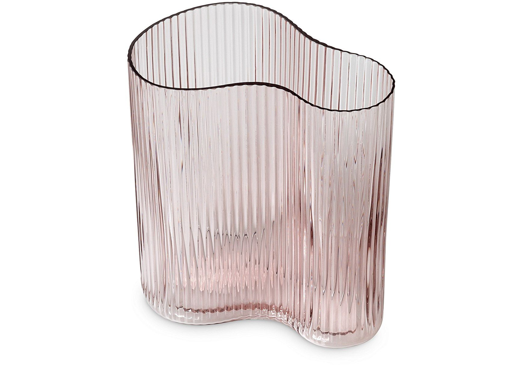 Petitine Short Pink Glass Vase, Oliver Bonas