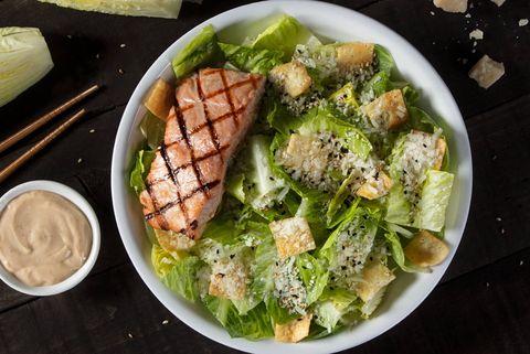 Dish, Food, Caesar salad, Cuisine, Ingredient, Salad, Vegetable, Cruciferous vegetables, Produce, Leaf vegetable,