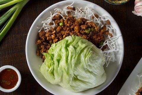 Dish, Food, Cuisine, Ingredient, Produce, Lettuce, Larb, Vegetarian food, Meal, Salad,