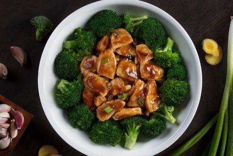 Dish, Food, Broccoli, Cuisine, Ingredient, Leaf vegetable, Cruciferous vegetables, Vegetable, Produce, Cashew,