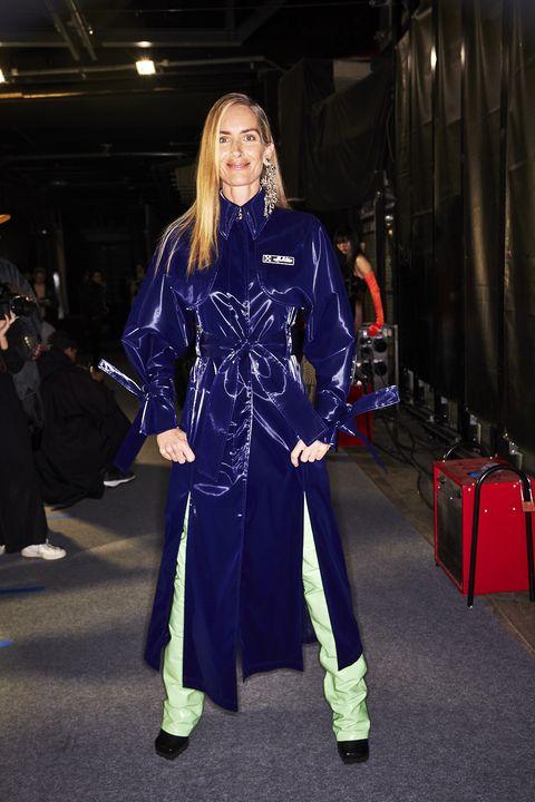 Clothing, Fashion, Electric blue, Cobalt blue, Outerwear, Costume, Robe, Fashion design, Street fashion,