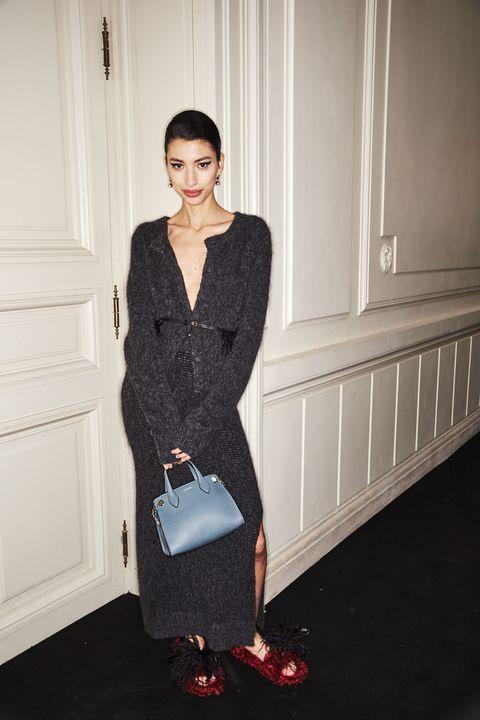 Clothing, Dress, Shoulder, Fashion, Outerwear, Formal wear, Design, Cocktail dress, Footwear, Little black dress,