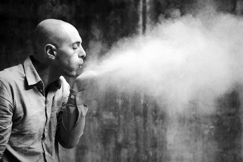 Smoke, Photograph, Smoking, Black-and-white, Photography, Monochrome, Monochrome photography, Portrait, Portrait photography, Style,