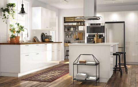 Furniture, Room, Countertop, Interior design, Property, Kitchen, Product, Cabinetry, Floor, Building,