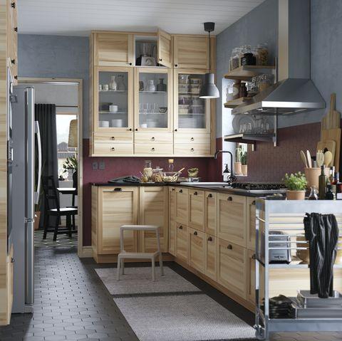 Countertop, Cabinetry, Room, Furniture, Kitchen, Property, Interior design, Floor, Building, Home,