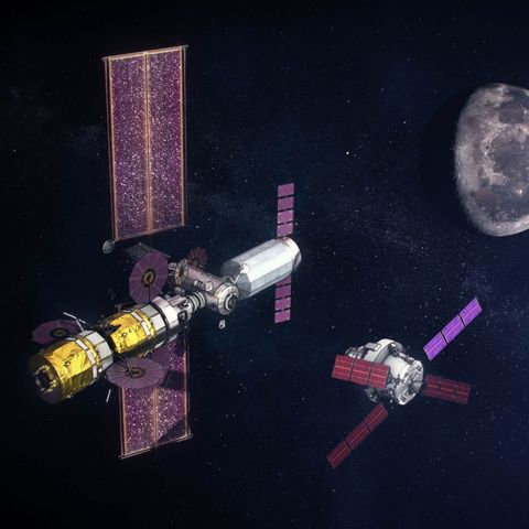 Space station, Satellite, Spacecraft, Space, Outer space, Vehicle, Building, Astronomical object,