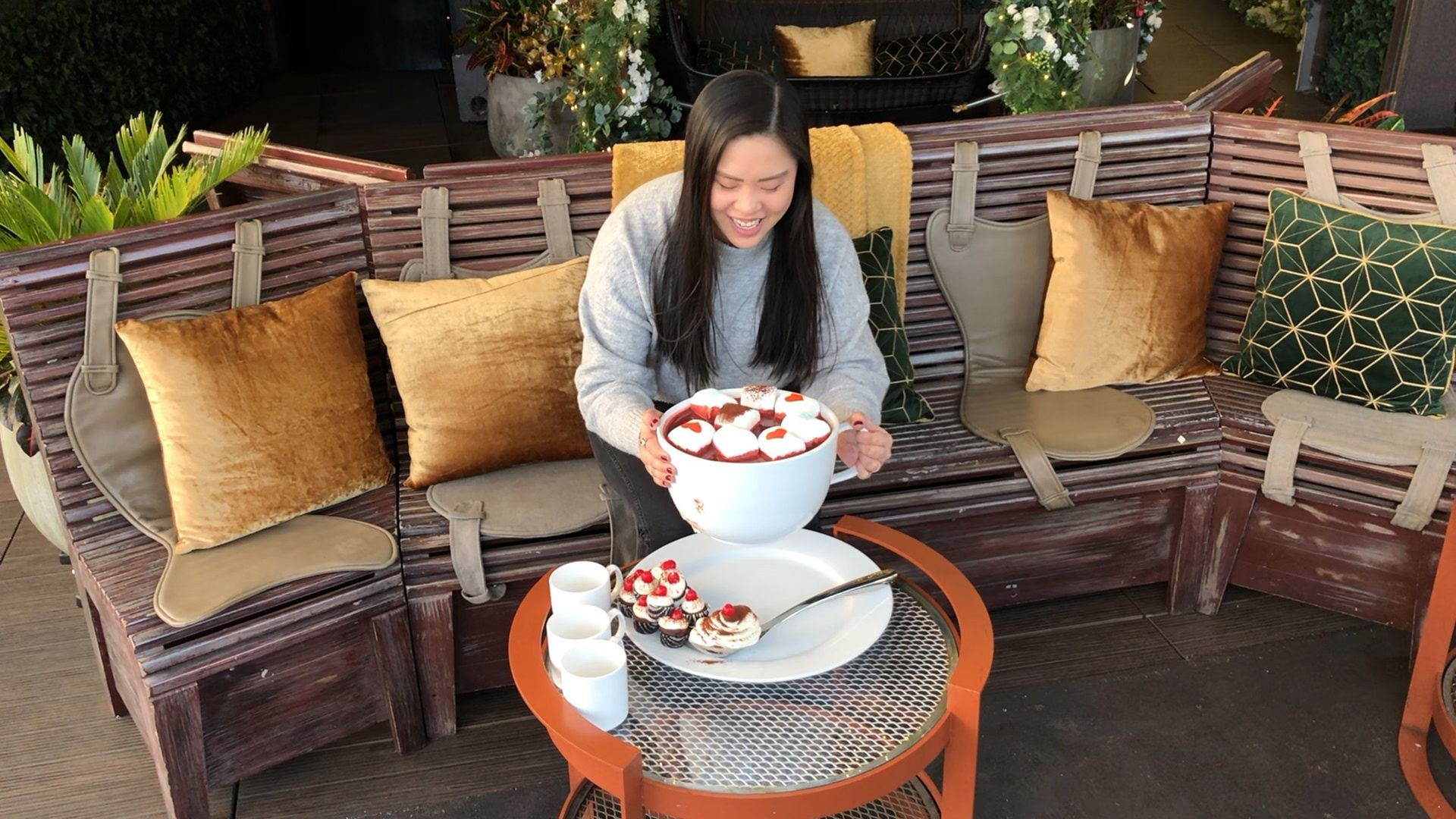 This GIANT Spiked Red Velvet Hot Cocoa Weighs 15 Pounds—And Gets Set On Fire