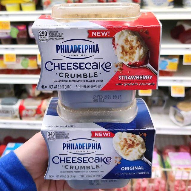 philadelphia cheesecake crumble dessert cups