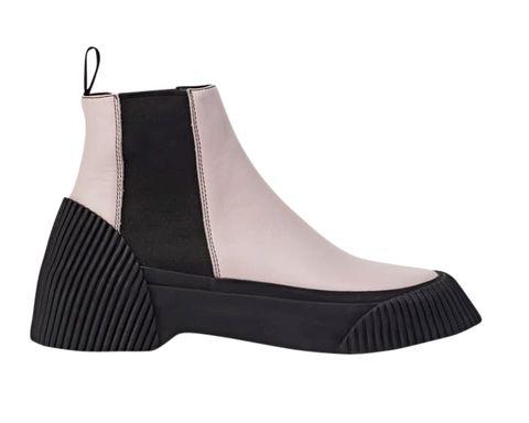 Footwear, Black, Boot, Shoe, Beige,