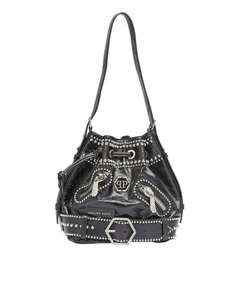 Handbag, Bag, Black, Shoulder bag, Hobo bag, Fashion accessory, Leather, Black-and-white, Material property, Font,