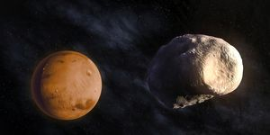 Phobos and Mars, artwork