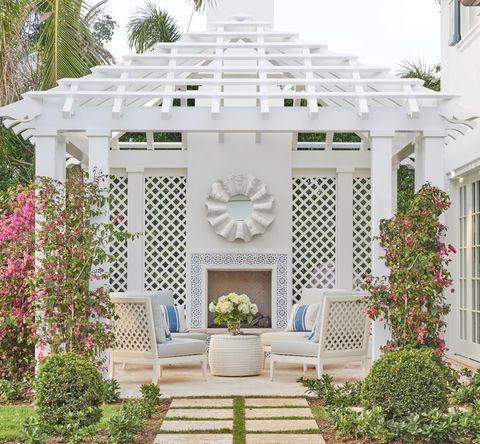 phoebe howard palm beach pergola patio backyard veranda