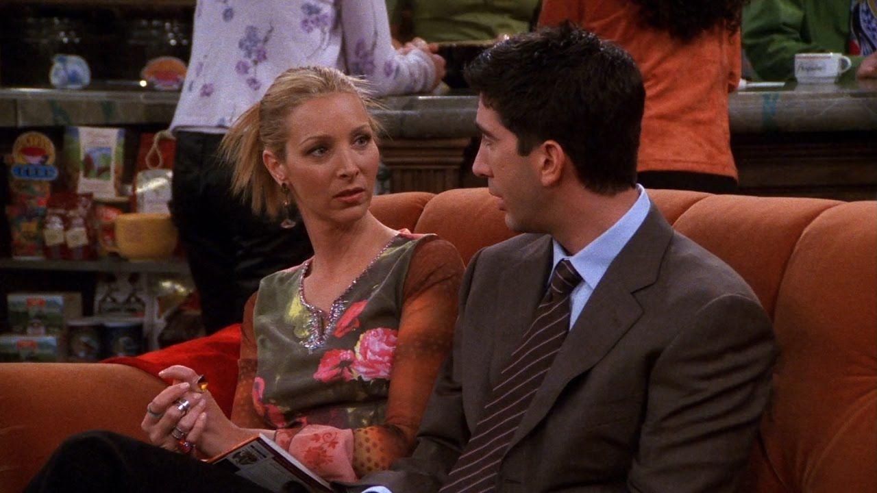 """Lisa Kudrow y David Schwimmer en """"Friends"""""""