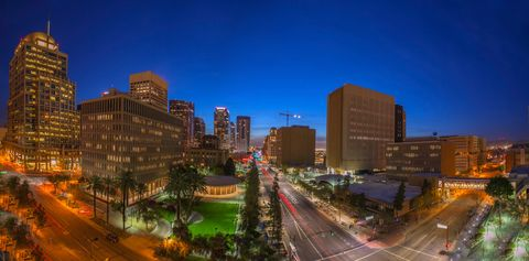 Phoenix, Arizona Downtown Skyline at Night