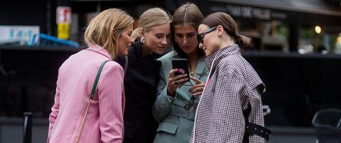 People, Street fashion, Fashion, Green, Yellow, Pink, Street, Snapshot, Human, Interaction,