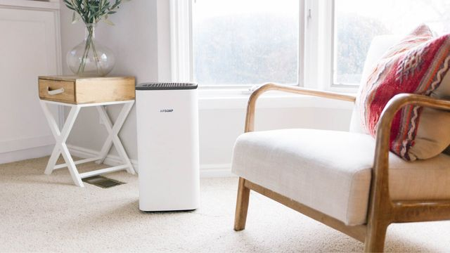 phonesoap air purifier in living room