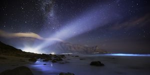 Phosphor lights up a beach - Dappat se gat, Kogelberg, Western Cape, South Africa
