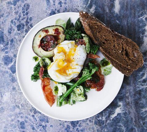 Dish, Food, Cuisine, Ingredient, Breakfast, Poached egg, Brunch, Meal, Produce, Salad,