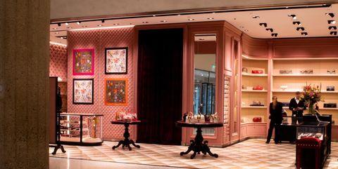 Floor, Flooring, Ceiling, Interior design, Hall, Lobby, Interior design, Commercial building, Shelf, Column,