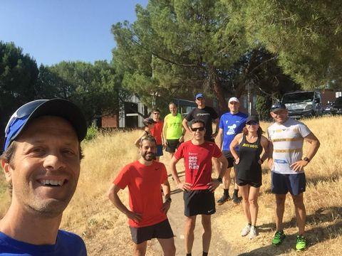 Entrenamientos del grupo Asisa para el maratón de Amsterdam
