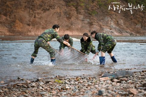 Water, Recreation, Army, River, Military, Fishing net, Fishing, Marines,