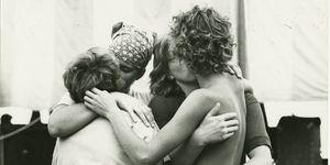 Women embracing,Women kiss,