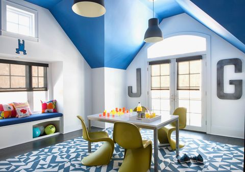 a bold colored playroom by smart d2 playrooms