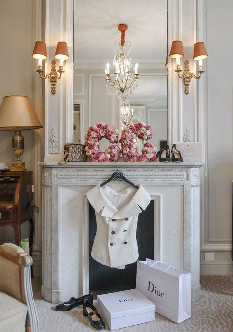 White, Room, Lighting, Interior design, Furniture, Light fixture, Pink, Home, Table, Lamp,