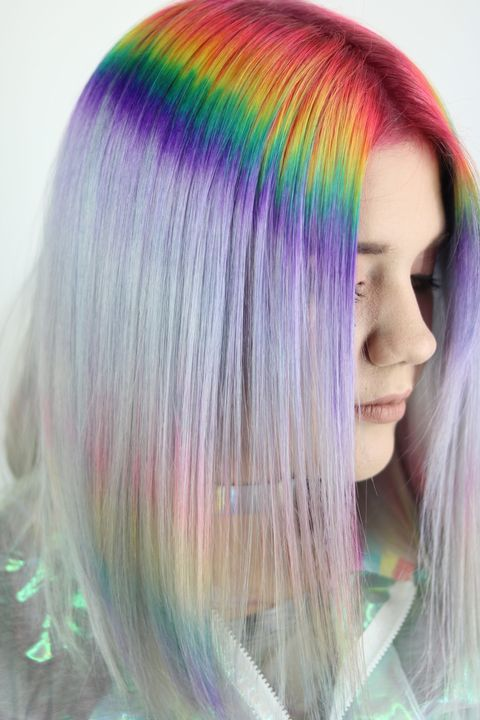 These Prism Roots Are The Prettiest Colorful Dye Job