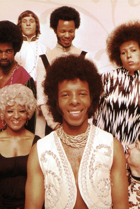 Photo of SLY & The FAMILY STONE and Larry GRAHAM and Gregg ERRICO and Freddie STONE and Cynthia ROBINSON and Rose STONE and Sly STONE and Jerry MARTINI