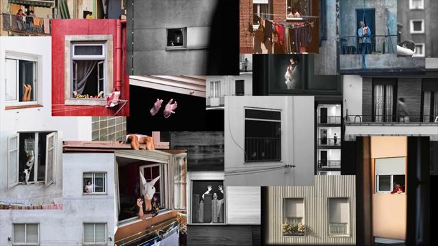 imágenes de balcones y ventanas de la convocatoria organizada por photoespaÑa durante la pandemia