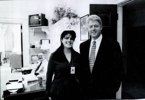 Monica Lewinsky meets with President Clinton