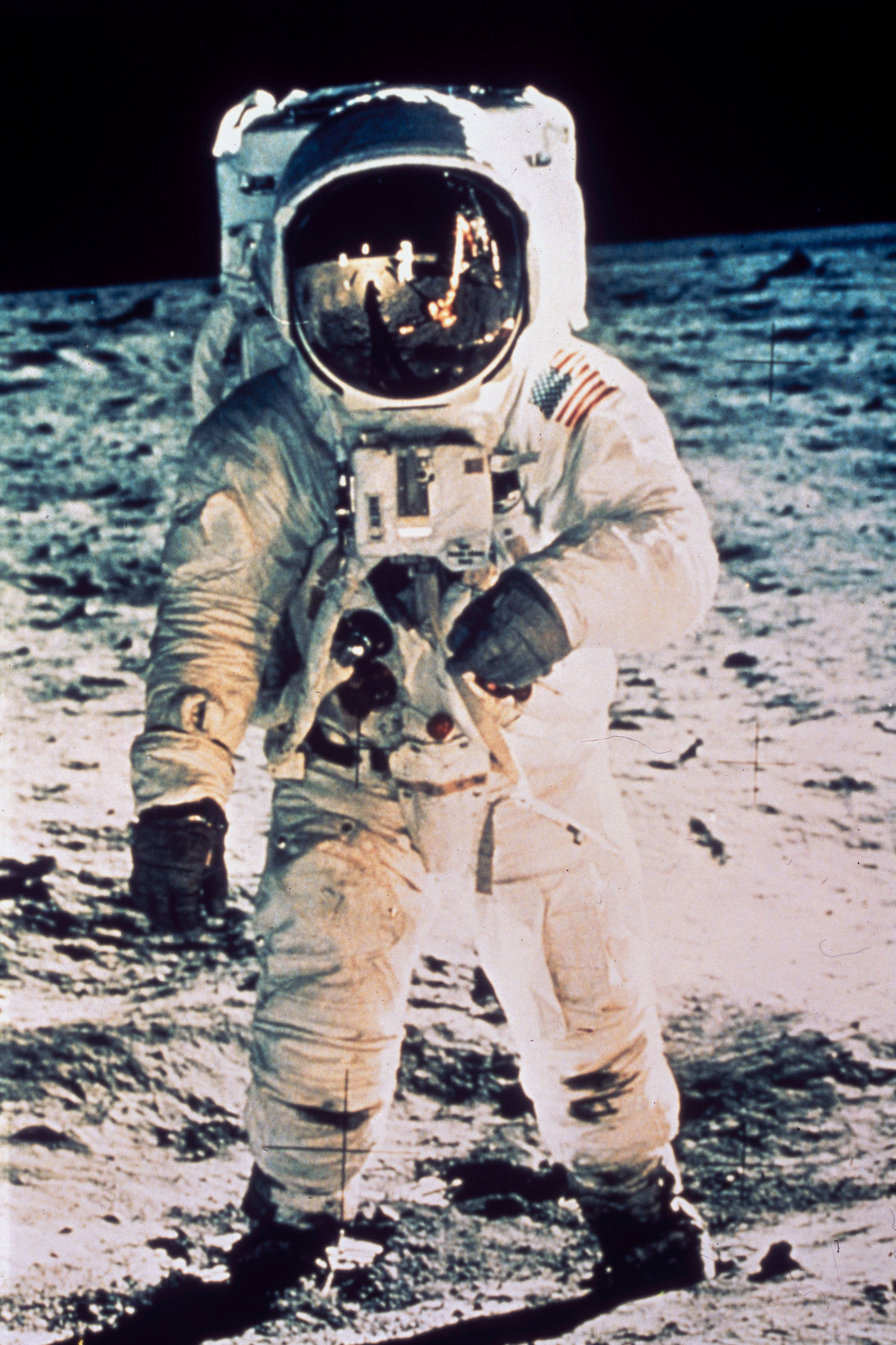 Edwin �Buzz� Aldrin on the Moon, 1969.
