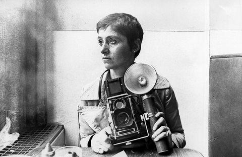 Photographer Diane Arbus Poses for A Rare Portrait