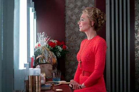 phyllis schlafly cate blanchett prepares for a tv appearance on mrs america