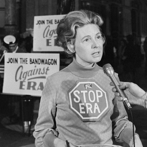 Phyllis Schlafly Talks with Reporters