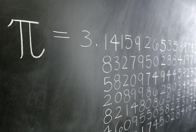 pi formula on blackboard
