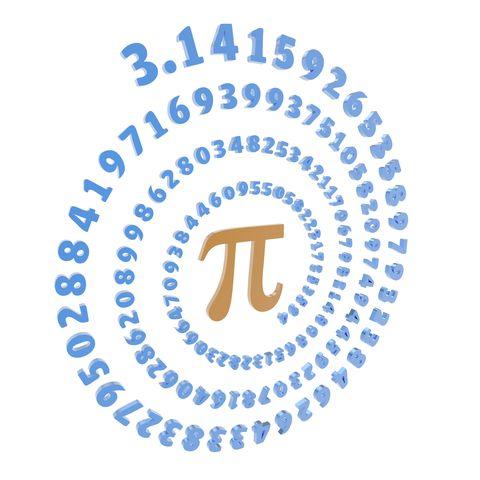 Pi symbol and number, artwork